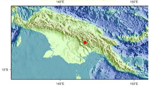 巴布亚新几内亚发生5.8级地震 震源深度20千米